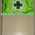 ธงนำทางอพยพหนีไฟแบบวงกลมผ้าต่วน_สีเขียวอ่อน
