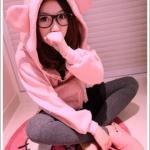 เสื้อกันหนาว น้องหมี สุดน่ารัก ผ้านุ่มนิ่ม ฮิตสุดๆ สีชมพูอ่อน พร้อมส่งทันที