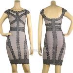 HV112 / Preorder Herve Leger Dress Style พรีออเดอร์เดรสไตล์ Hervr Leger เดรสผ้ายืด ใส่สวยเน้นรูปร่าง