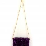 กระเป๋าเลื่อมสีม่วง-พร้อมส่ง