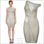 HV0920 / Preorder Herve Leger Dress Style พรีออเดอร์เดรสไตล์ Hervr Leger เดรสผ้ายืด ใส่สวยเน้นรูปร่าง แบบเก๋ทันสมัย สไตล์ดาราและเซเลบกำลัง HOT HIT