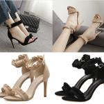 รองเท้าส้นสูง ไซต์ 35-40 สีดำ/น้ำตาล