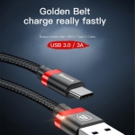 Baseus Golden Belt USB 3.0 สายชาร์จ Charge & Sync 3A 150cm (USB Type-C / Android) แท้