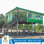 บ้านโมบายขนาด 8*6 เมตรระเบียง 2.5*3 เมตร (2ห้องนอน 1ห้องน้ำ 1ห้องรับเเขก 1ห้องพระ)