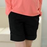 กางเกงขาสั้นคนท้อง L0167 สีดำ