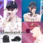 หมวก R.SHEMISTE BLACK RING แบบ SUGA