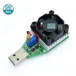 Smart USB Load Current with fan โมดูลทดสอบการจ่ายไฟ USB โหลดกระแสไฟได้ 0.15-3A