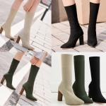 รองเท้าบูท ไซต์ 35-40 สีดำ/ครีม/เขียว