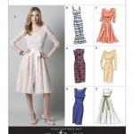 แพทเทิร์นตัดเดรสสตรี มิกซ์แอนด์แมช Vogue 8766AA ไซส์ปกติ Size: 6-8-10-12