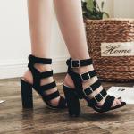 รองเท้าส้นสูงสีดำ ไซต์ 35-40