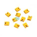 จัมเปอร์สีเหลือง Mini Jumper 2 Pins Female Pitch 2.54mm จำนวน 10 ชิ้น