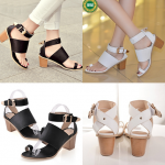 รองเท้าส้นสูง ไซต์ 34-39 สีดำ สีขาว