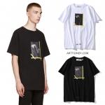 (งานป้าย) เสื้อยืด OFF White C/o Virgil Abloh New Religion Caravaggio-ระบุสี/ไซต์-