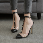 รองเท้าส้นสูงปลายแหลมสีดำ ไซต์ 35-40