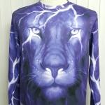เสื้อ Apizode : เสื้อยืดพิมพ์ลาย คอกลมแขนยาว ลายใบหน้าเสือ (น้ำเงิน)