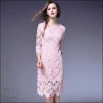 5902111-1 / M L XL XXL / 2016 Lace dress พรีออเดอร์ งานคัตติ้งยุโรป คุณภาพดีสมราคา สวยคอนเฟริ์ม