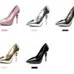 รองเท้าส้นสูง ไซต์ 34-39 สี : ทอง/เงิน/ชมพู/ดำ/น้ำตาล