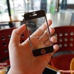 iPhone 4, 4s (หน้า) - ฟิลม์ Titanium Black กระจกนิรภัย P-One 9H 0.26m ราคาถูกที่สุด