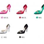 รองเท้าส้นสูง ไซต์ 34-39 สีดำ สีแดง สีเงิน สีเขียว สีชมพฺู