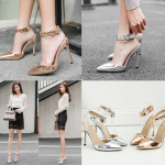รองเท้าส้นสูงสีเงิน/ทอง ไซต์ 35-40