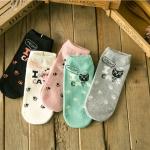Cats socks ถุงเท้าลายแมว (3 คู่ 100 บาท)