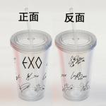 แก้วน้ำพลาสติก EXO Sig ลายหน้า-หลัง