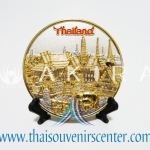 ของพรีเมี่ยม ของที่ระลึกไทย จานโชว์ แบบที่ 2 Size SS สีเงินลายทอง