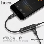 HOCO LS6 หัวแปลงฟังเพลง 2in1Ligtning to Lightning and AUX iPhone 7 / 7 Plus แท้