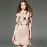 5902114 / S M L / 2016 Lace dress พรีออเดอร์ งานคัตติ้งยุโรป คุณภาพดีสมราคา สวยคอนเฟริ์ม