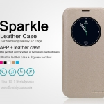 Samsung Galaxy S7 edge - เคสฝาพับ Nillkin Sparkle leather case แท้