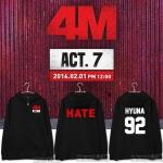 Jacket Hoodie 4MINUTE 4M HATE -ระบุสี/ไซต์-