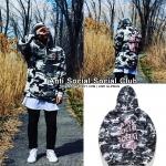 Hoodie Anti Social Social Club Camo-pink -ระบุไซต์-