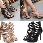 รองเท้าส้นสูงสีทอง/ดำ ไซต์ 35-40