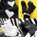 รองเท้าบูท ไซต์ 35-39 สีขาว สีดำ