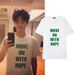 เสื้อยืด MOVE ON WITH HOPE Sty.SUHO -ระบุสี/ไซต์