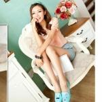 รองเท้า คัทชู หน้าคู่รัก สีลูกกวาด น่ารักสุด ๆ