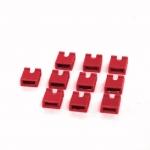 จัมเปอร์สีแดง Mini Jumper 2 Pins Female Pitch 2.54mm Red Color จำนวน 10 ชิ้น
