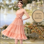 L580596 /S - 3XL / 2015 Hiend Design Fashion dress พรีออเดอร์เดรสแฟชั่นงานเกรดยุโรป สวยดูดีมีสไตล์ นางแบบใส่ชุดจริง เป๊ะเว่อร์!