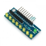 บอร์ดทดลอง LED 8 ดวง สำหรับ Arduino สีเหลือง