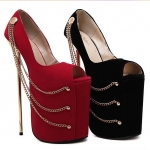 รองเท้าส้นสูง ไซต์ 35-40 สีดำ สีแดง