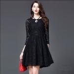 59020115 / S M L XL / 2016 Lace dress พรีออเดอร์ งานคัตติ้งยุโรป คุณภาพดีสมราคา สวยคอนเฟริ์ม