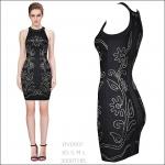 HV0907 / Preorder Herve Leger Dress Style พรีออเดอร์เดรสไตล์ Hervr Leger เดรสผ้ายืด ใส่สวยเน้นรูปร่าง แบบเก๋ทันสมัย สไตล์ดาราและเซเลบกำลัง HOT HIT