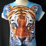 เสื้อยืดพิมพ์ลาย ลายเสือ สวมใส่เบาสบาย ใส่ได้ทั้งชายและหญิง