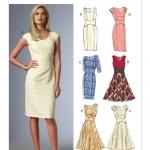 แพทเทิร์นตัดเดรสสตรี มิกซ์แอนด์แมช Vogue 8972E5 ไซส์ใหญ่ Size: 14-16-18-20-22 (อก 36-44 นิ้ว)