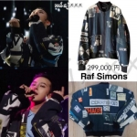Jacket RAF SIMONS Sty.G-Dragon Loser BLACK -ระบุไซต์-