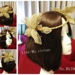 MAI06 มงกุฎผีเสื้อตัวใหญ่สีทอง (งาน handmade)**สินค้ามีจำกัดในเเต่ละล๊อต**