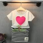 ชุดเซท เสื้อ+กระโปรง สีชมพู แพ็ค 5ชุด ไซส์ 7-9-11-13-15