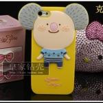 Hello Geek ตัวเหลือง ซิลิโคน - iPhone 4, 4s