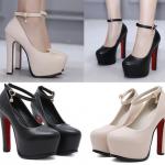 รองเท้าส้นสูงสีนู๊ด/ดำ ไซต์ 35-39