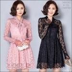 5902092 / M L XL XXL / 2016 Lace dress พรีออเดอร์ งานคัตติ้งยุโรป คุณภาพดี สมราคา สวยคอนเฟริ์ม